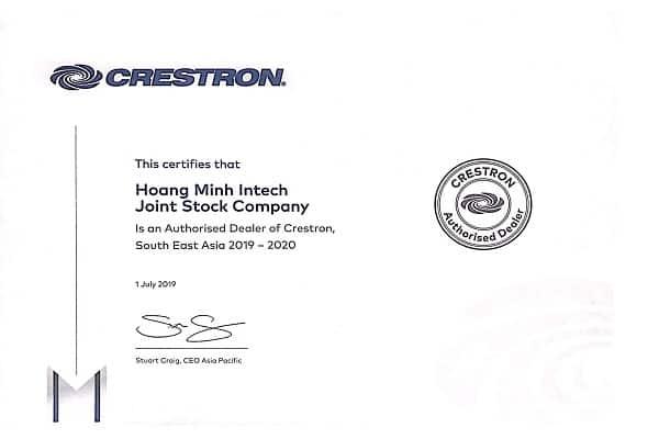 Crestron Authorized Dealer 2020 1